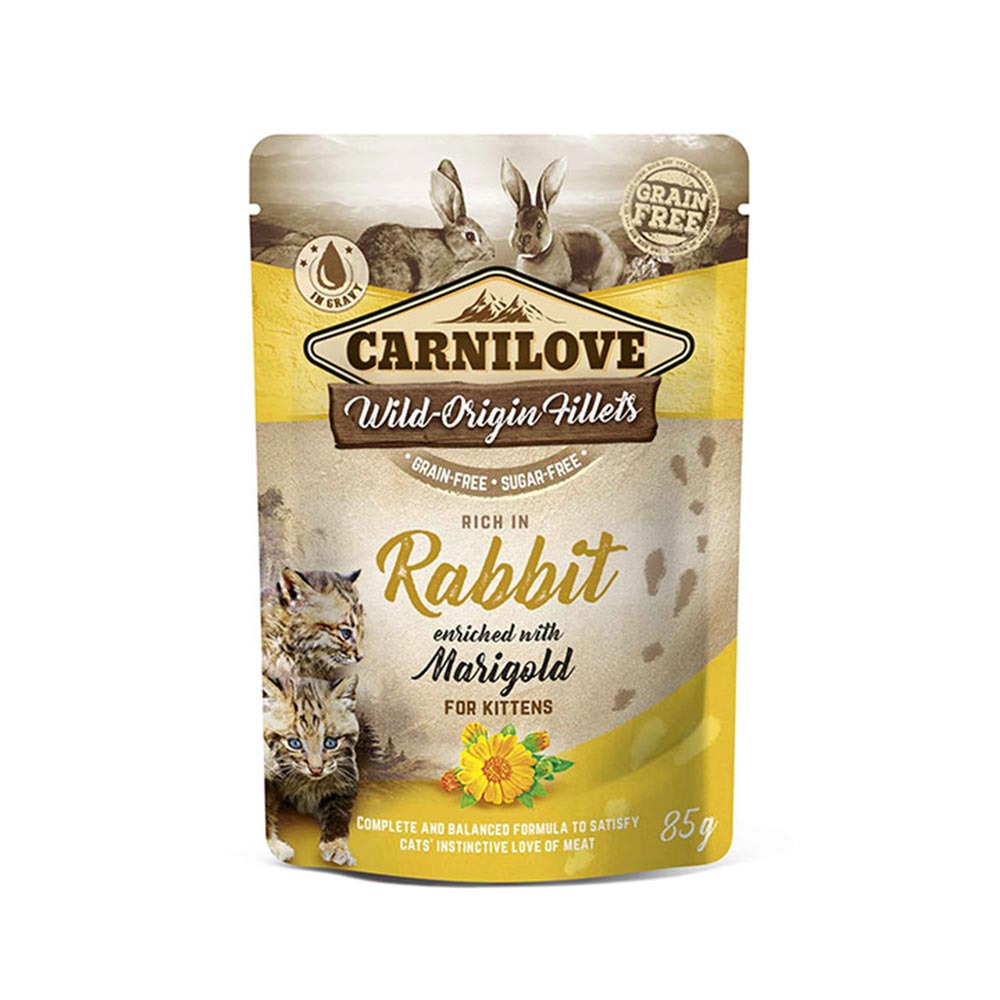Rabbit enriched with Marigold for Kittens