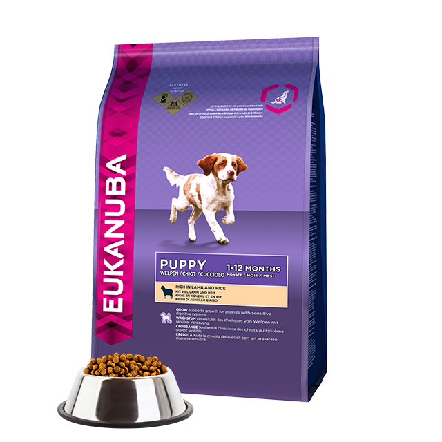 Eukanuba Puppy Lamb and Rice Small and Medium Breed Dry Dog Food