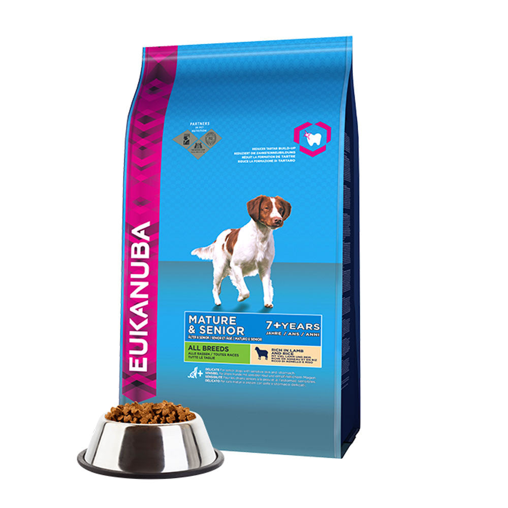 Eukanuba Senior Lamb and Rice Dry Dog Food