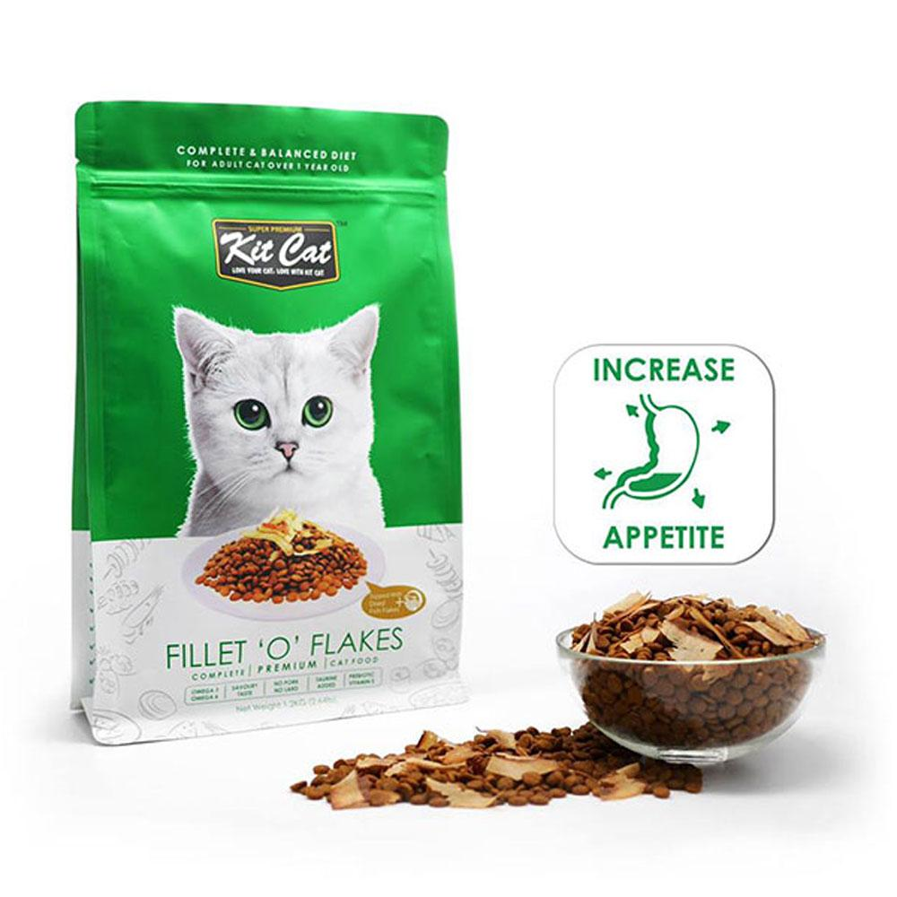 Kit Cat Dry Cat Food Fillet 'O' Flakes Delivery in Malaysi