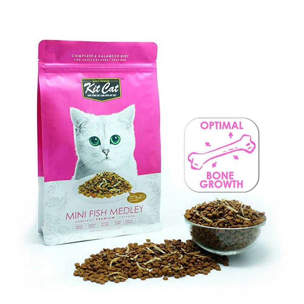 Kit Cat Dry Cat Food Mini Fish Medley Delivery in Malaysi