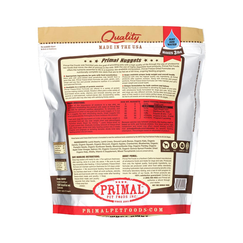 Freeze Dried Lamb Formula (GF)