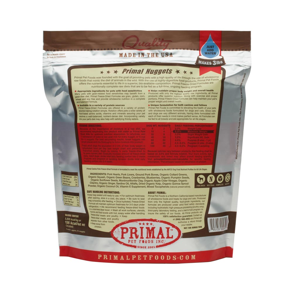 Primal Freeze Dried Pork Dog Food Delivery in Malaysia