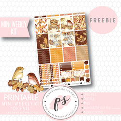 Autumn Leaves Mini Sampler Kit Digital Printable Planner Stickers (PDF/JPG/PNG/Silhouette Cut File Freebie) - Plannerologystudio