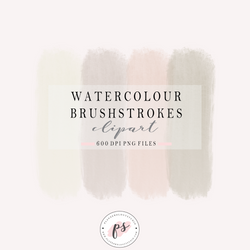 Watercolour Brushstroke Clipart (Freebie) - Plannerologystudio