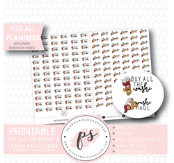 Buy All The Washi & Washi Haul Icon Digital Printable Planner Stickers - Plannerologystudio