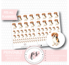 Beagle Dog Deco Sheet Digital Printable Planner Stickers - Plannerologystudio
