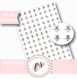 But Coffee First Hand Drawn Doodle Icon Printable Planner Stickers - Plannerologystudio