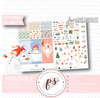 Winter Snow Full Weekly Kit Printable Planner Digital Stickers (for use with Erin Condren Vertical)