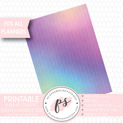 Holographic Texture Pattern Blank Header Printable Planner Stickers - Plannerologystudio