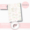 Watercolour Brushstrokes Full & Half Boxes Printable Planner Stickers (PDF/JPG/PNG Freebie) (for ECLP Vertical) - Plannerologystudio