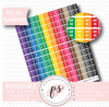 Rainbow Rent Due Flags Printable Planner Stickers - Plannerologystudio