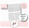 Instagram (Instapost, Edit, Post) Script & Icon Digital Printable Planner Stickers (Foil Ready) - Plannerologystudio
