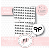 Bow Icon Digital Printable Planner Stickers (Foil Ready) - Plannerologystudio