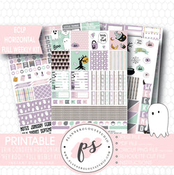 Hey Boo! Full Weekly Kit Printable Planner Stickers (for use with ECLP Horizontal) - Plannerologystudio