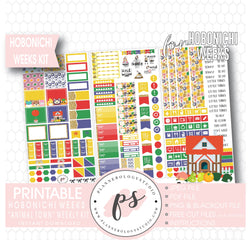 Animal Town (Animal Crossing Inspired) Weekly Kit Printable Digital Planner Stickers (for use with Hobonichi Weeks) - Plannerologystudio