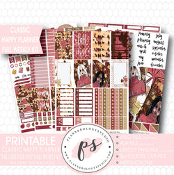 Falling For You Full Weekly Kit Printable Planner Stickers (for use with Mambi Classic Happy Planner) - Plannerologystudio