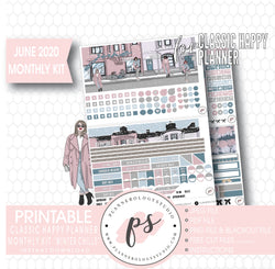 Winter Chills June 2020 Monthly View Kit Digital Printable Planner Stickers (for use with Classic Happy Planner) - Plannerologystudio