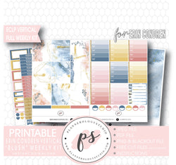Blush Full Weekly Kit Printable Planner Digital Stickers (for use with Erin Condren Vertical) - Plannerologystudio