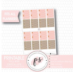 "Decorative Full Box Checklists (1.5"" x 1.9"") Printable Digital Planner Stickers - Plannerologystudio"