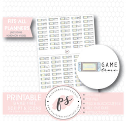 Animal Crossing Nintendo Switch Game Time Bujo Script & Icon Digital Printable Planner Stickers