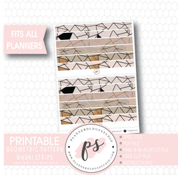 Geometric Pattern Washi Strip Digital Printable Planner Stickers