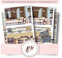 H School (Harry Potter Inspired) August 2020 Monthly Kit Digital Printable Planner Stickers (for use with Standard A5 Wide Planners)