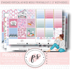 Balcony Dreams Weekly Digital Printable Planner Stickers Kit (for use with Standard Vertical A5 Wide Planners)