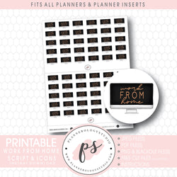 Work From Home Icon Digital Printable Planner Stickers