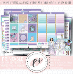 Haunted Mansion Weekly Digital Printable Planner Stickers Kit (for use with Standard Vertical A5 Wide Planners)