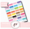 Multi-Colour Half Size Heart Checklist Boxes Printable Planner Stickers - Plannerologystudio