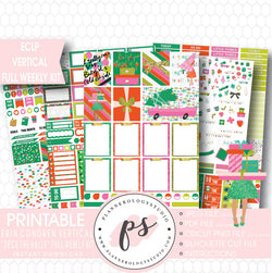 Deck the Halls Christmas Full Weekly Kit Printable Planner Stickers (for use with ECLP Vertical) - Plannerologystudio