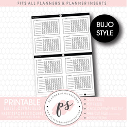 Habit Tracker Bujo Bullet Journal Digital Printable Planner Stickers