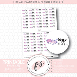 Happy Mail (Harry Potter Inspired) Bujo Script & Icon Digital Printable Planner Stickers