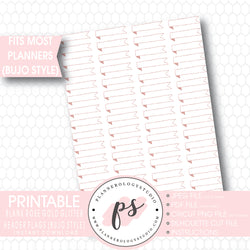 Rose Gold Glitter Blank Header Flags Bullet Journal Bujo Printable Planner Stickers - Plannerologystudio