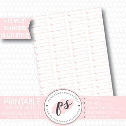 Rose Gold Foil Texture Blank Header Flags Bullet Journal Bujo Printable Planner Stickers - Plannerologystudio