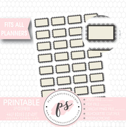 Spiderweb Halloween Printable Planner Stickers - Plannerologystudio