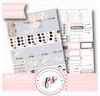 Shine March 2017 Monthly View Kit Printable Planner Stickers (for use with ECLP) - Plannerologystudio