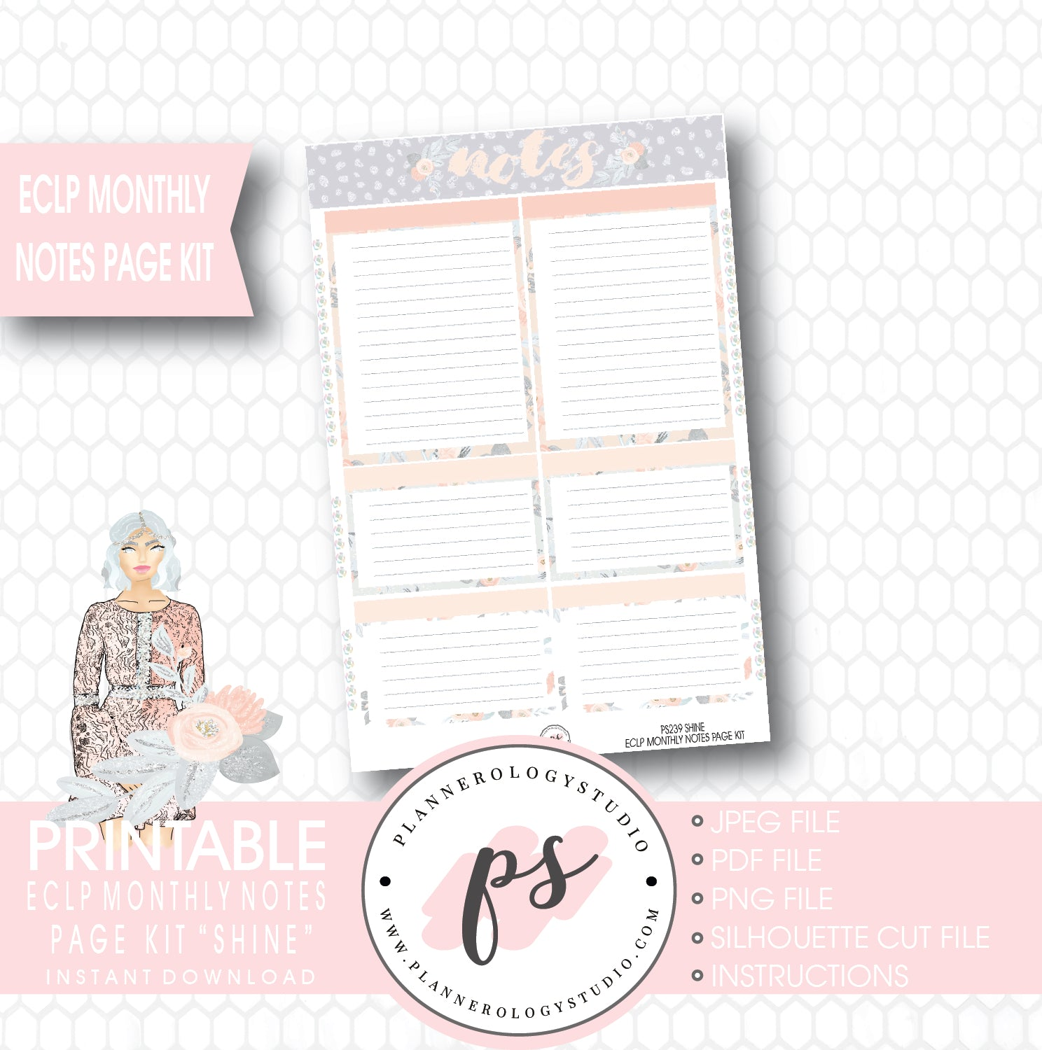 graphic relating to Printable Notes Page referred to as Glow Every month Notes Site Package Printable Planner Stickers (for