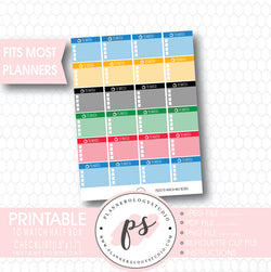 To Watch Half Box Checklists (Olympic Inspired Colors) Printable Planner Stickers - Plannerologystudio