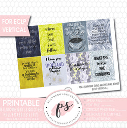 Gilmore Girls Quotes Full Box Printable Planner Stickers (for use with ECLP Vertical) - Plannerologystudio