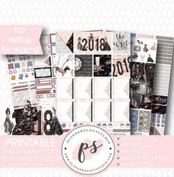 Twenty Eighteen 2018 New Year's Full Weekly Kit Printable Planner Stickers (for use with ECLP Vertical) - Plannerologystudio