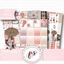 Blushing Rose Full Weekly Kit Printable Planner Stickers (for use with ECLP Vertical) - Plannerologystudio