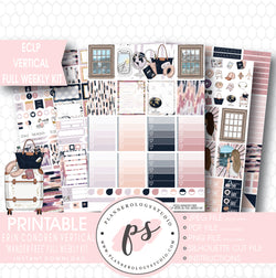 Wander Free Full Weekly Kit Printable Planner Stickers (for use with ECLP Vertical) - Plannerologystudio