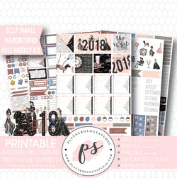 Twenty Eighteen 2018 New Year's Full Weekly Kit Printable Planner Stickers (for use with Erin Condren Small Hardbound Planner) - Plannerologystudio