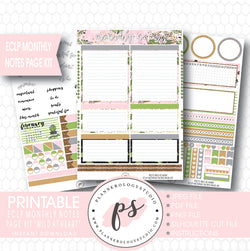 Wild at Heart Monthly Notes Page Kit Printable Planner Stickers (for use with ECLP) - Plannerologystudio