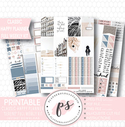 Serene Stock Photography Full Weekly Kit Digital Printable Planner Stickers (for use with Classic Happy Planner) - Plannerologystudio
