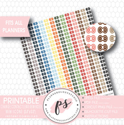 Contact Lens Case (Change Contact Lens Reminder) Icon Printable Planner Stickers - Plannerologystudio