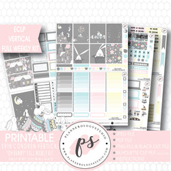 Oh Bunny Easter Full Weekly Kit Printable Planner Stickers (for use with ECLP Vertical) - Plannerologystudio