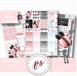 Miss Easter Full Weekly Kit Printable Planner Stickers (for use with ECLP Vertical) - Plannerologystudio